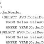 SQL Server Nonrecursive Queries with Common Table Expressions
