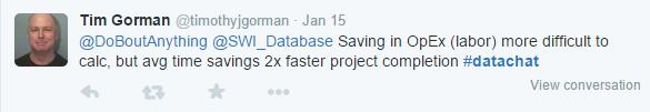 TimGorman Savings in OpEx 2x or more