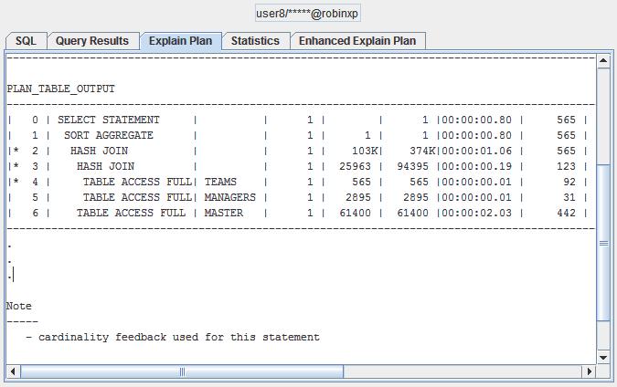 Hotka Plan Table Output
