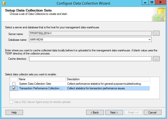 Setup Data Collection Sets