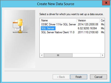 Select ODBC Driver Otey