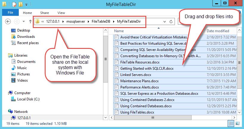 Using SQL Server FileTables Part 2 - SolarWinds