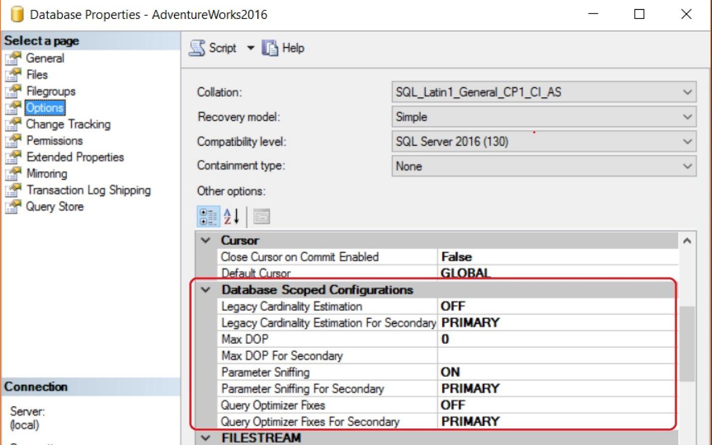 Database Properties Image 1