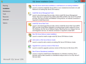 Installing SQL Server 2016 SSDT-figure1
