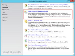 Installing SQL Server 2016 SSMS