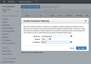 create customer gateway