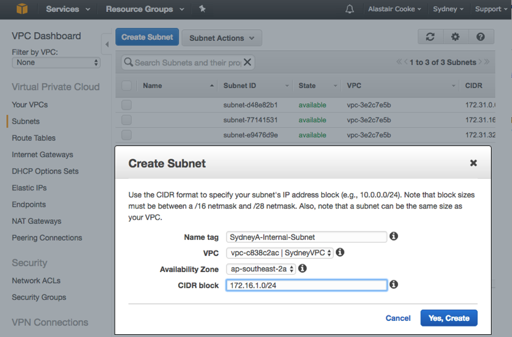 Build a VPC in AWS - SolarWinds