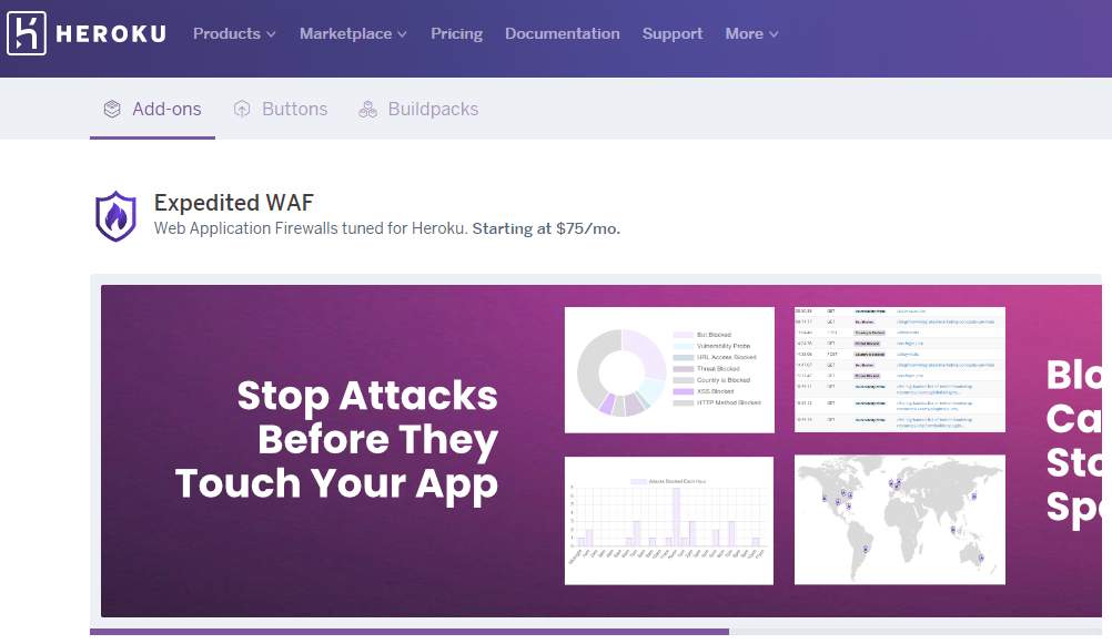 Heroku Add-On—Expedited WAF